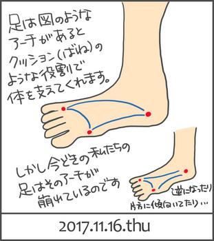 171116今時の足はアーチがない.jpg